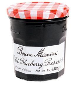 Fruit Spread, Bonne Maman® Wild Blueberry Preserves (13 oz Jar)