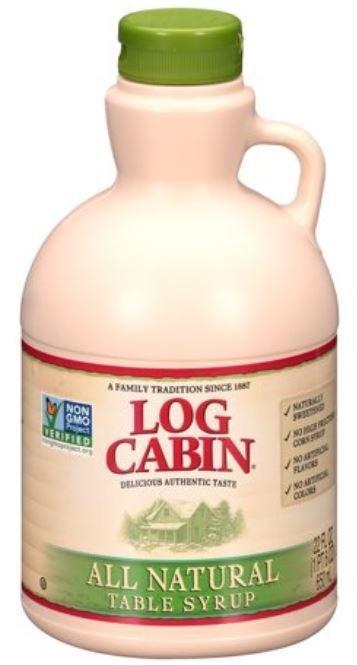 Pancake Syrup, Log Cabin® All Natural Pancake Syrup (22 oz Bottle)