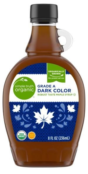 Pancake Syrup, Simple Truth™ Organic Grade A Dark Color Maple Syrup (8 oz Bottle)