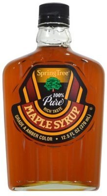 Pancake Syrup, Spring Tree® 100% Pure Maple Syrup (12.5 Oz Bottle)