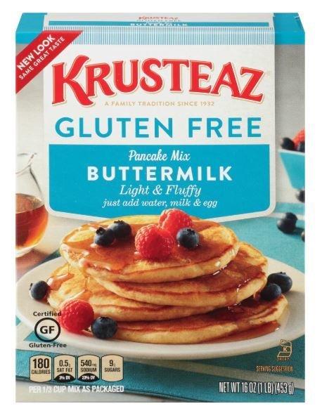 Pancake Mix, Krusteaz® Gluten Free Light & Fluffy Buttermilk Pancake Mix (16 oz Box)