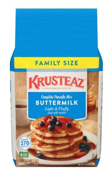 Pancake Mix, Krusteaz® Complete Light & Fluffy Buttermilk Pancake Mix (5 Lbs, 80 Oz Bag)