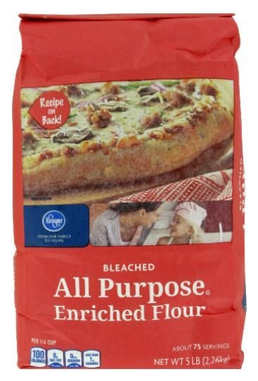 Baking Flour, Kroger® All-Purpose Bleached Enriched Flour (80 oz Bag)