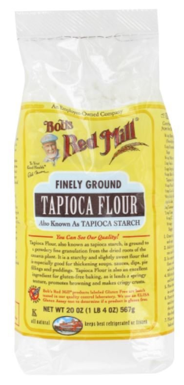 "Baking Flour, Bob's Red Mill® Finely Ground Tapioca ""Flour"" Starch (20 oz Bag)"