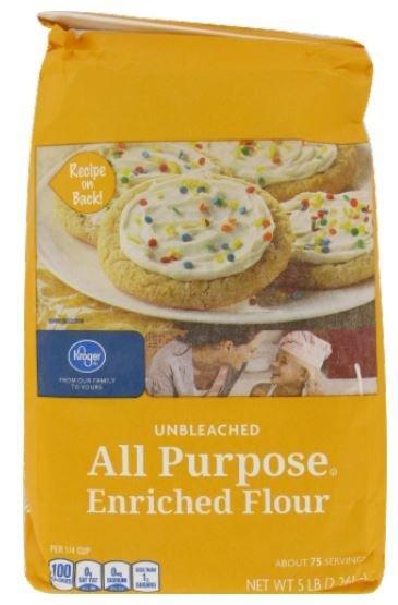 Baking Flour, Kroger® All-Purpose Unbleached Enriched Flour (80 oz Bag)