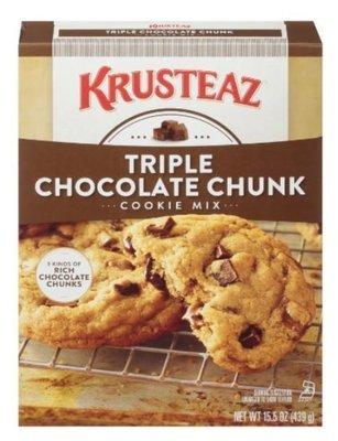 Cookie Mix, Krusteaz® Triple Chocolate Chunk Cookie Mix (15.5 oz Box)