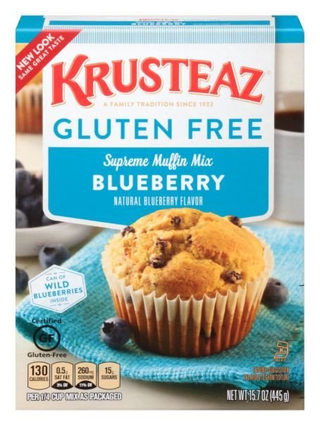 Muffin Mix, Krusteaz® Gluten Free Blueberry Muffin Mix (15.7 oz Box)