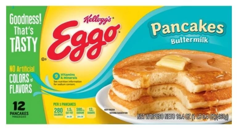 Frozen Pancakes, Kellogg's® Eggo® Buttermilk Pancakes (12 Count, 16.4 oz Box)