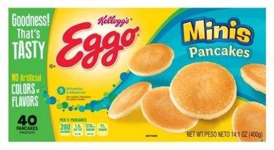 Frozen Pancakes, Kellogg's® Eggo® Minis Pancakes (40 Count, 14.1 oz Box)