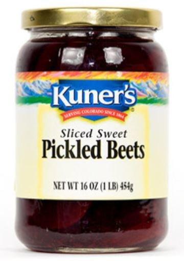 Preserved Beets, Kuner's® Sliced Pickled Beets (16 oz Jar)