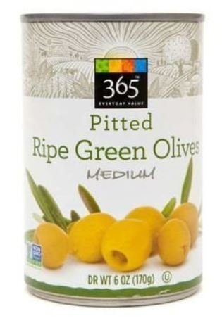 Canned Olives, 365® Organic Medium Ripe Green Pitted Olives (6 oz Can)