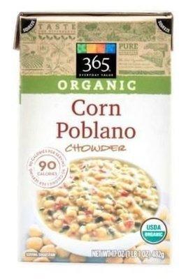 Boxed Organic Soup, 365® Organic Poblano Corn Chowder Soup (17 oz Box)