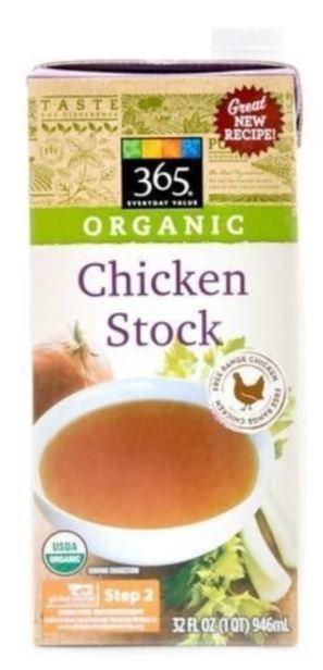 Boxed Organic Soup, 365® Organic Chicken Stock (32 oz Box)