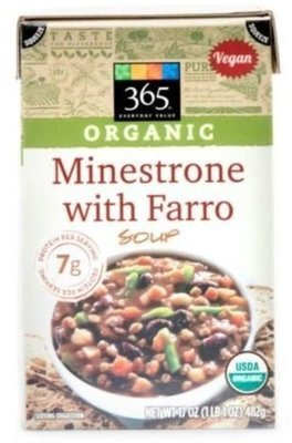 Boxed Organic Soup, 365® Organic Minestrone with Farro Soup (17 oz Box)