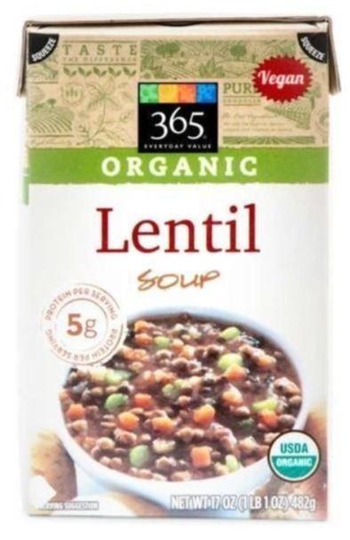 Boxed Organic Soup, 365® Organic Lentil Soup (17 oz Box)