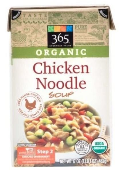 Boxed Organic Soup, 365® Organic Chicken Noodle Soup (17 oz Box)