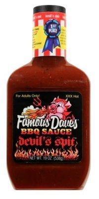 BBQ Sauce, Famous Dave's® Devil's Spit BBQ Sauce (19 oz Bottle)