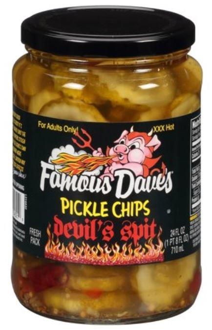 Preserved Pickles, Famous Dave's® Devil's Spit Pickle Chips (24 oz Jar)