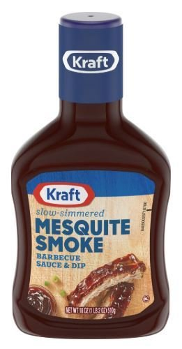 BBQ Sauce, Kraft® Mesquite Smoke BBQ Sauce (18 oz Bottle)