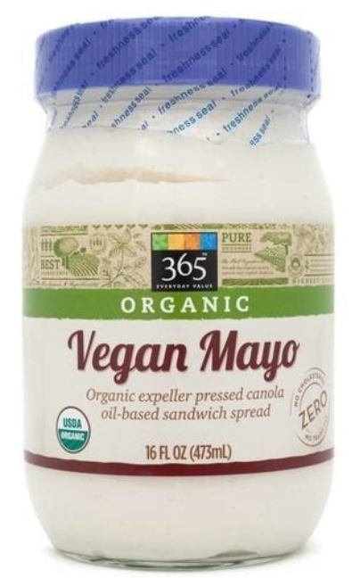 Vegan Mayonnaise, 365® Organic Vegan Mayonnaise (16 oz Jar)
