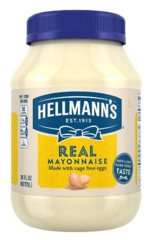 Mayonnaise, Hellmann's® Real Mayonnaise (30 oz Jar)
