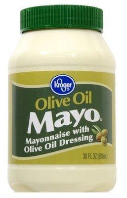 Olive Mayonnaise, Kroger® Olive Oil Mayo Mayonnaise (30 oz Jar)