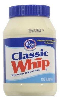 Mayonnaise, Kroger® Classic Whip Whipped Salad Dressing (30 oz Jar)