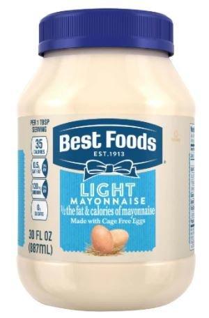 Light Mayonnaise, Best Foods® Light Mayo (30 oz Jar)