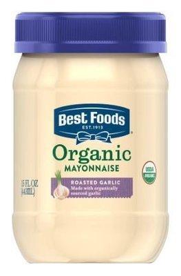 Organic Mayonnaise, Best Foods® Organic Roasted Garlic Mayonnaise (15 oz Jar)