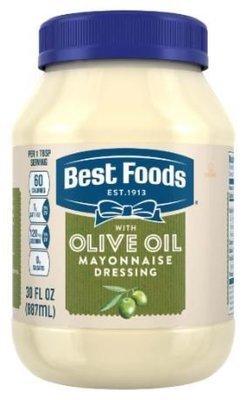 Olive Mayonnaise, Best Foods® Olive Oil Mayonnaise Dressing (30 oz Jar)