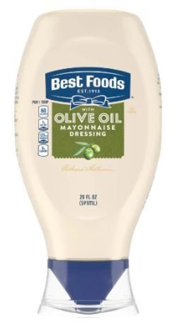 Olive Mayonnaise, Best Foods® Olive Oil Mayonnaise (Squeezable 20 oz Bottle)