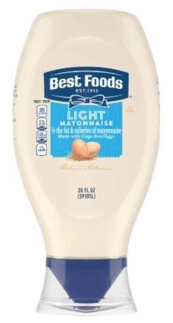 Light Mayonnaise, Best Foods® Light Mayonnaise (Squeezable 20 oz Bottle)