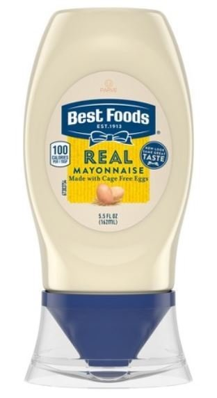 Mayonnaise, Best Foods® Real Mayonnaise (Squeezable 5.5 oz Bottle)