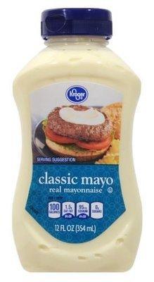 Mayonnaise, Kroger® Classic Mayo Mayonnaise (Squeezable 12 oz Bottle)
