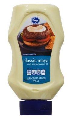 Mayonnaise, Kroger® Classic Mayo Mayonnaise (Squeezable 22 oz Bottle)