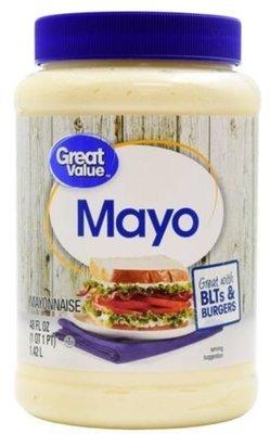 Mayonnaise, Great Value® Mayo Mayonnaise (48 oz Jar)