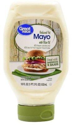 Olive Mayonnaise, Great Value® Olive Oil Mayo Mayonnaise (Squeezable 18 oz Bottle)