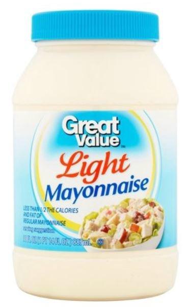 Light Mayonnaise, Great Value® Light Mayo Mayonnaise (30 oz Jar)