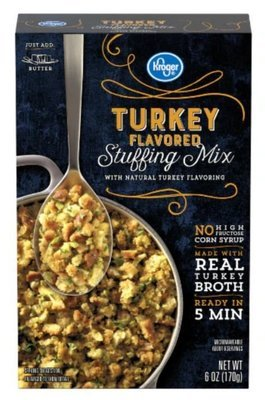 Stuffing Bread, Kroger® Turkey Flavored Stuffing Mix (6 oz Box)