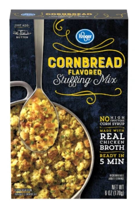 Stuffing Bread, Kroger® Corn Bread Flavored Stuffing Mix (6 oz Box)