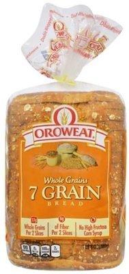 Loaf Bread, Oroweat® 7 Grain® Bread (24 oz Bag)