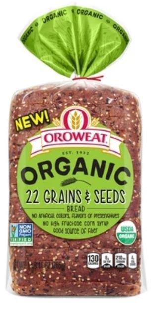 Loaf Bread, Oroweat® Organic 22 Grains & Seeds Bread (27 oz Bag)