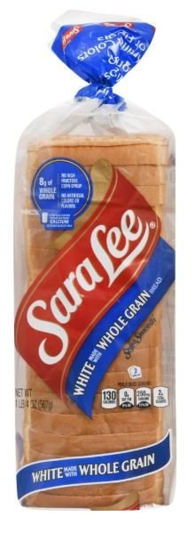 Loaf Bread, Sara Lee® White Whole Grain Bread (20 oz Bag)