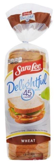 Loaf Bread, Sara Lee® Delightful 45 Calorie Wheat Bread (20 oz Bag)