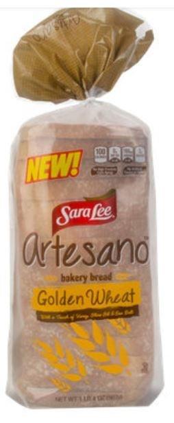 Loaf Bread, Sara Lee® Artesano Golden Wheat Bakery Bread (20 oz Bag)