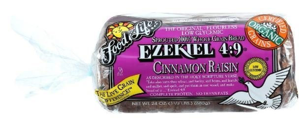 Loaf Bread, Food for Life® Ezekiel 4:9® Cinnamon Raisin Bread (24 oz Bag)