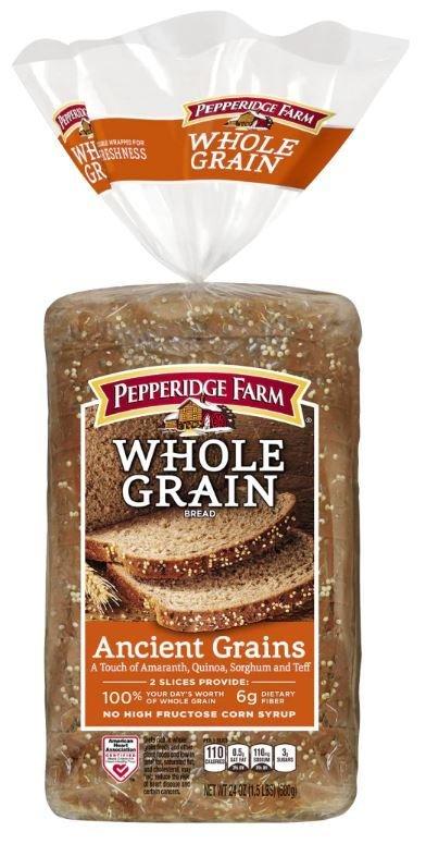 Loaf Bread, Pepperidge Farm® Whole Grain Ancient Grains Bread (24 oz Bag)