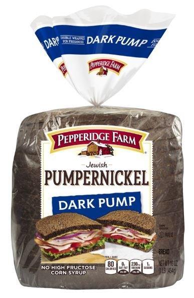 Loaf Bread, Pepperidge Farm® Pumpernickel Dark Pump Bread (16 oz Bag)