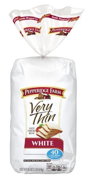 Loaf Bread, Pepperidge Farm® Very Thin White Bread (16 oz Bag)