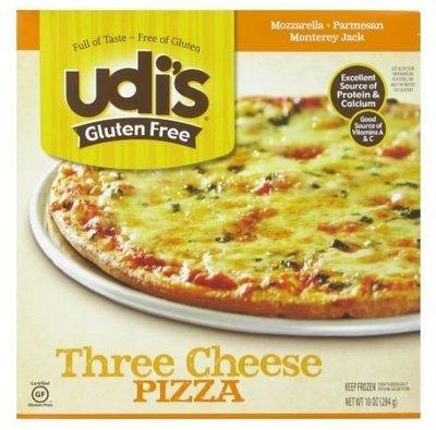 Frozen Pizza, Udi's® Gluten Free Three Cheese Pizza (10 oz Box)